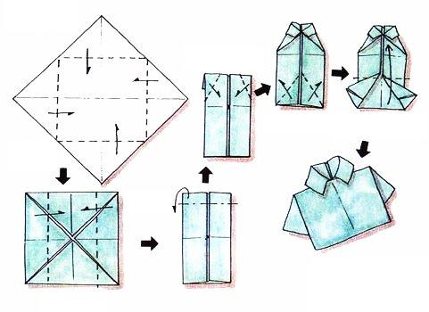 chemise en origami