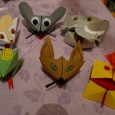 Cocotte en papier animaux