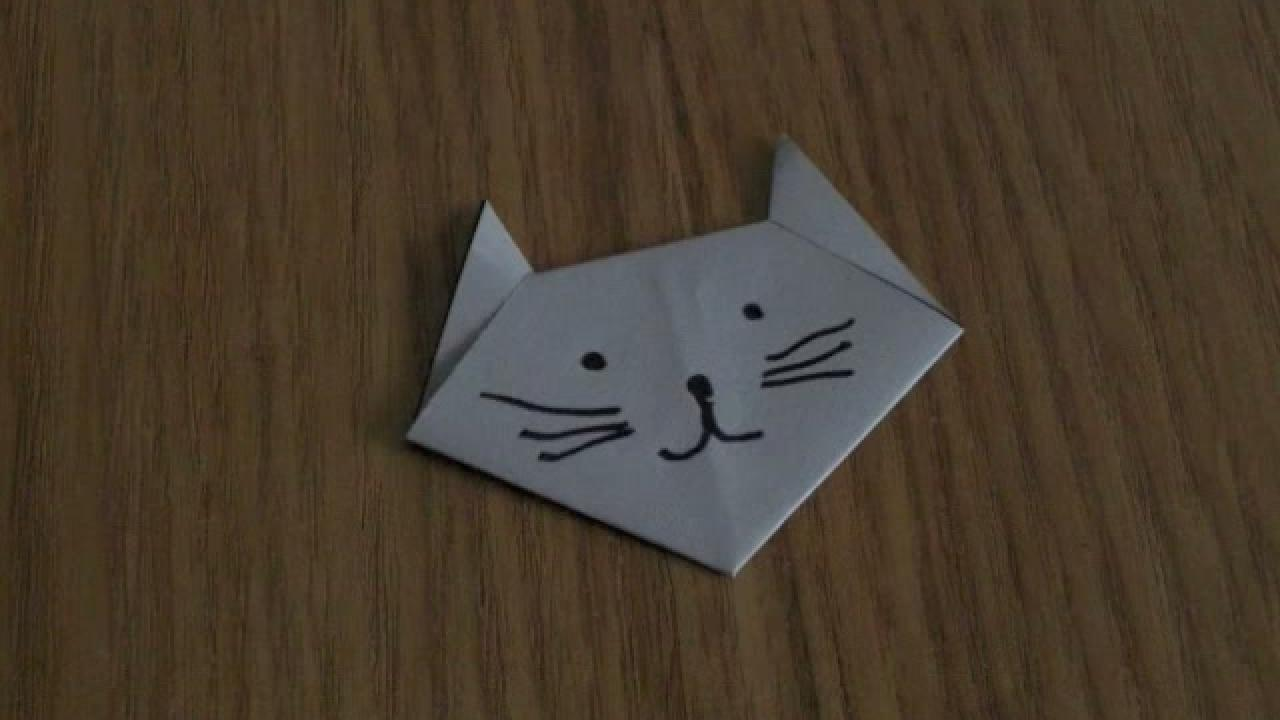 comment faire origami chat