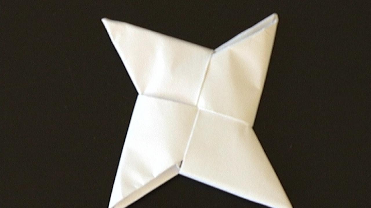 comment faire un shuriken en papier facile