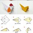 Comment faire une poule en papier