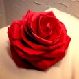 Complex origami rose