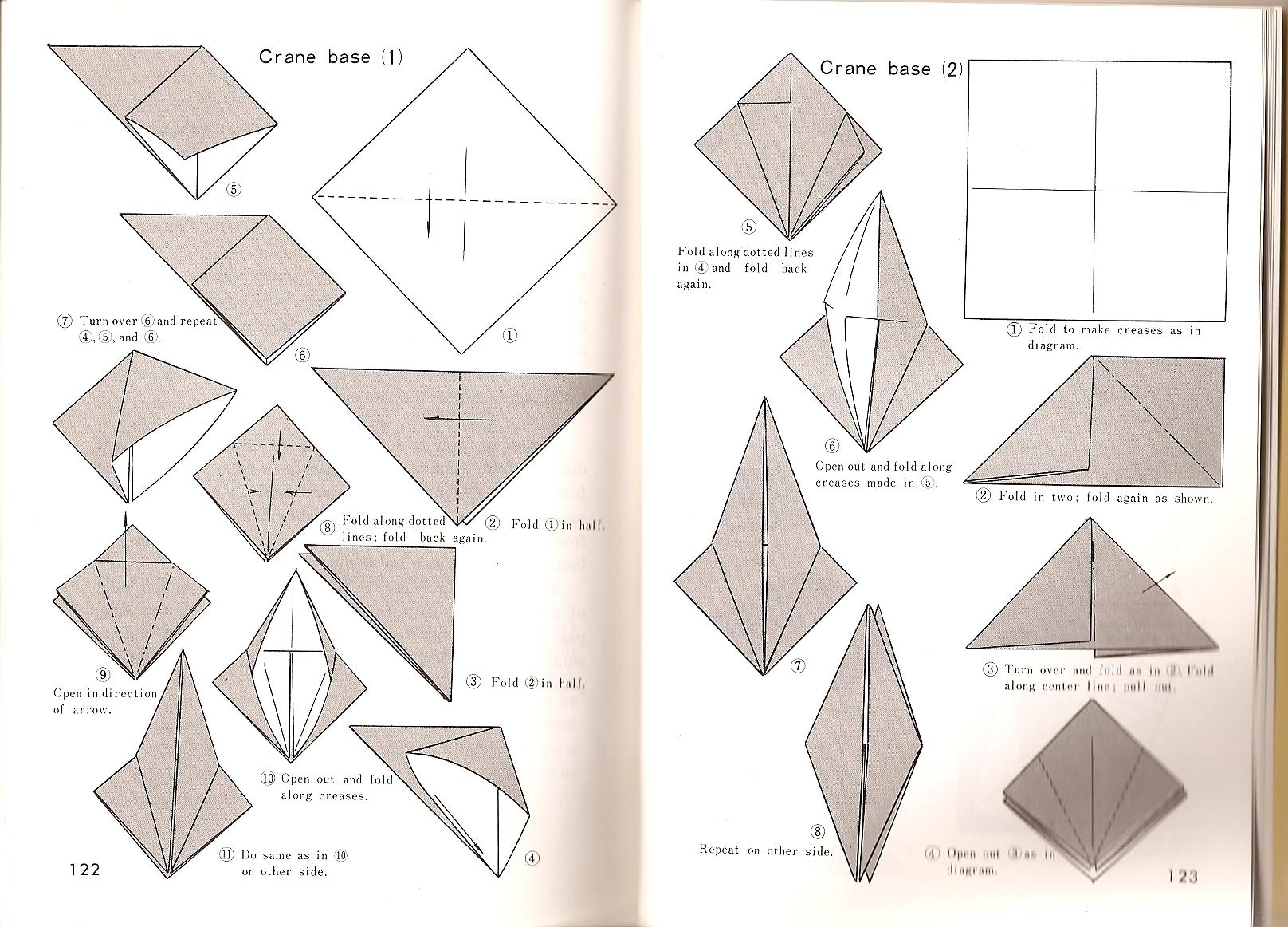 crane base origami