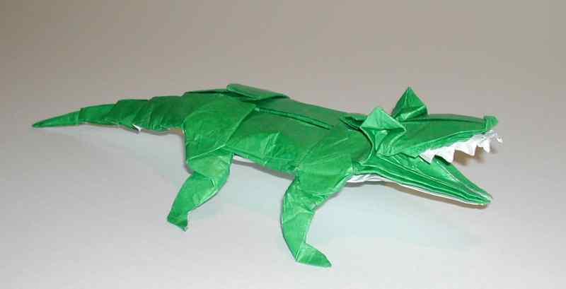 crocodile en origami