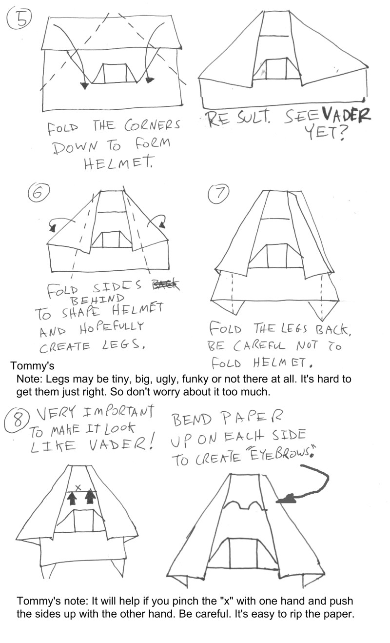 darth vader origami instructions