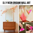 Diy origami wall decoration