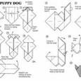 Dog origami diagram