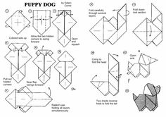 dog origami diagram