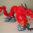 Dragon origami 3d