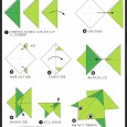 Easy frog origami for kids