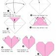 Easy heart origami