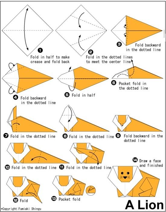 easy origami animal