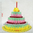 Easy origami birthday cake