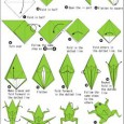 Easy origami frog instructions