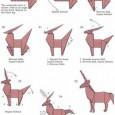 Easy origami unicorn