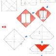 Enveloppe coeur origami