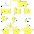étoile en papier origami facile