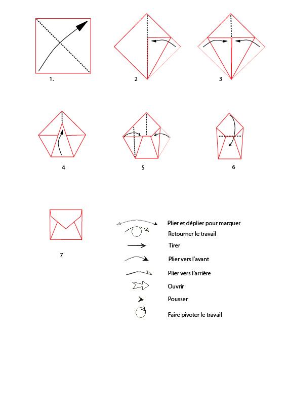 faire enveloppe origami