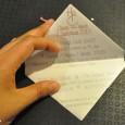 Faire part coeur origami