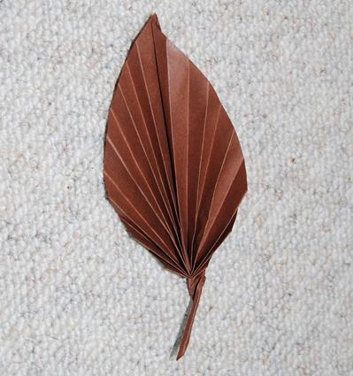 feuille en origami