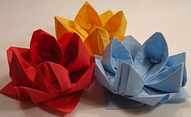 Видео оригами  кувшинка