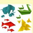 Fish origami vector
