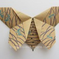 Flat origami butterfly