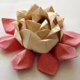 Flor de lotus origami diagrama
