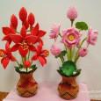 Flower origami 3d