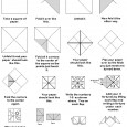 Fortune teller origami instructions