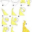 Girafe en origami