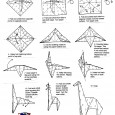 Giraffe origami instructions