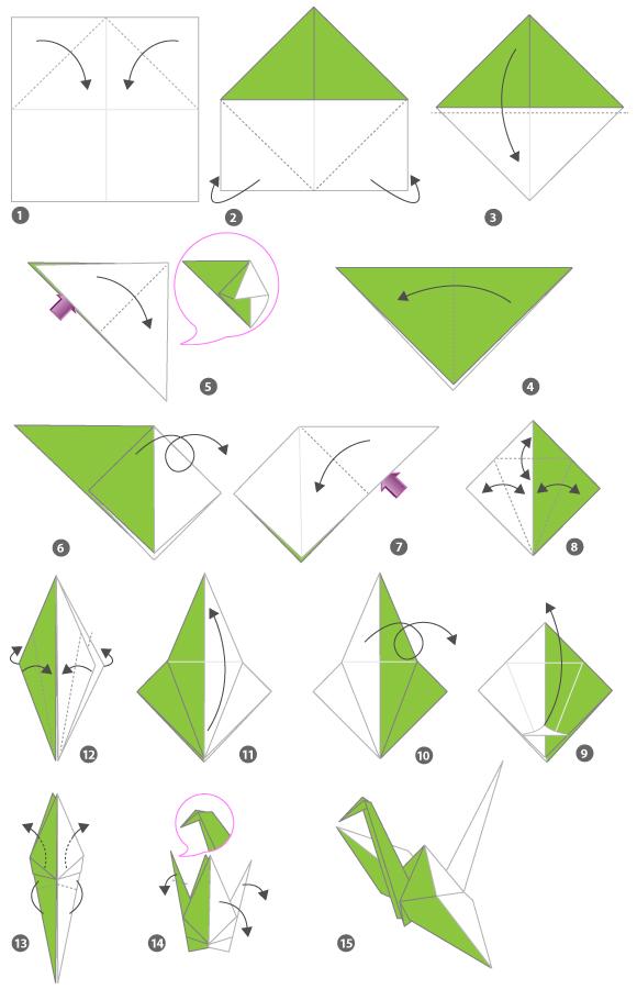 tuto origami cygne