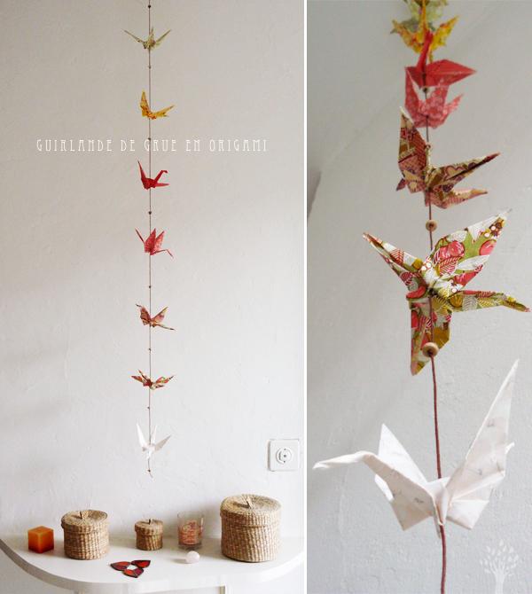Guirlande Origami Tuto