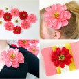 Handmade origami flowers