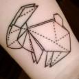 Horse origami tattoo
