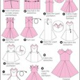 How to make a origami dress step by step