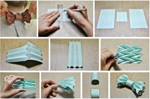 Как сделать из оригами галстук