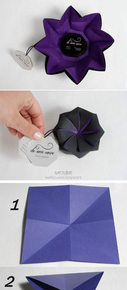 how to make origami flower box