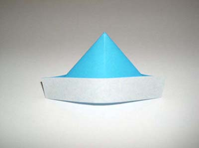 how to origami hat