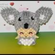 Koala origami 3d