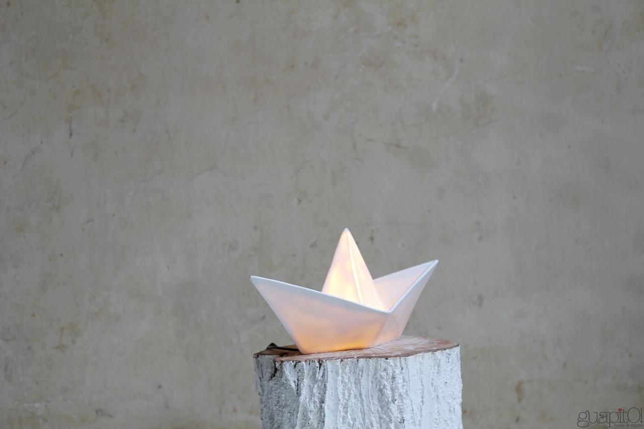lampe origami bateau