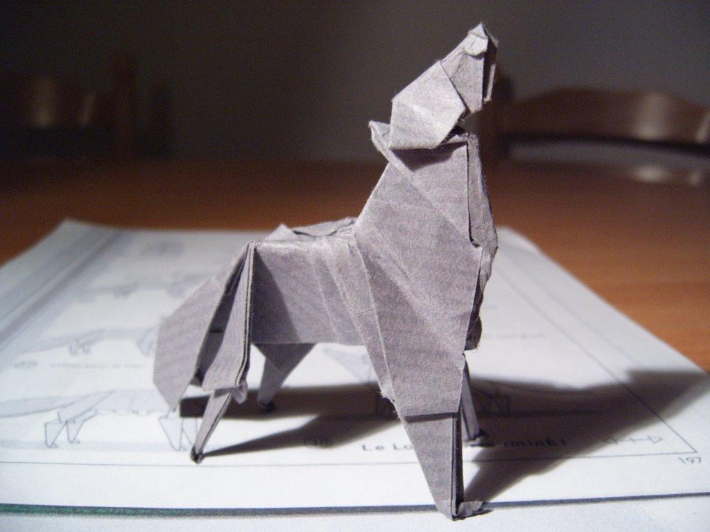 loup en origami