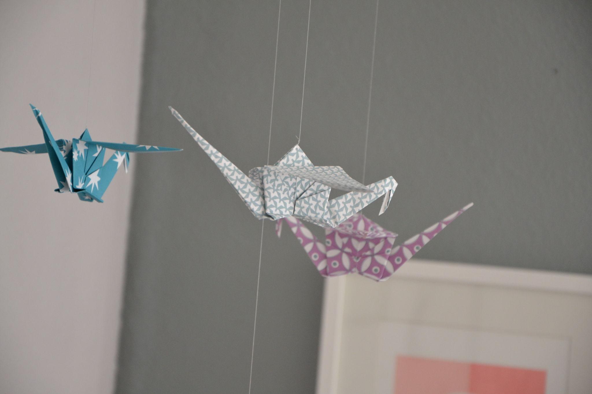 mobile origami bébé tuto