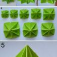 Modular origami folding instructions
