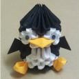 Modular origami penguin
