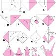 Oiseau grue origami