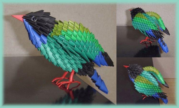 Oiseau Origami 3d