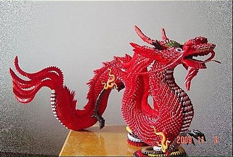 tutorial origami 3d dragon