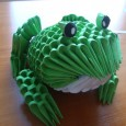 Origami 3d frog